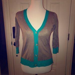 3/4 length sleeve cardigan sweater